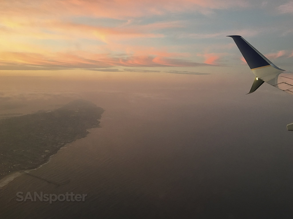 San Diego sunrise with fog