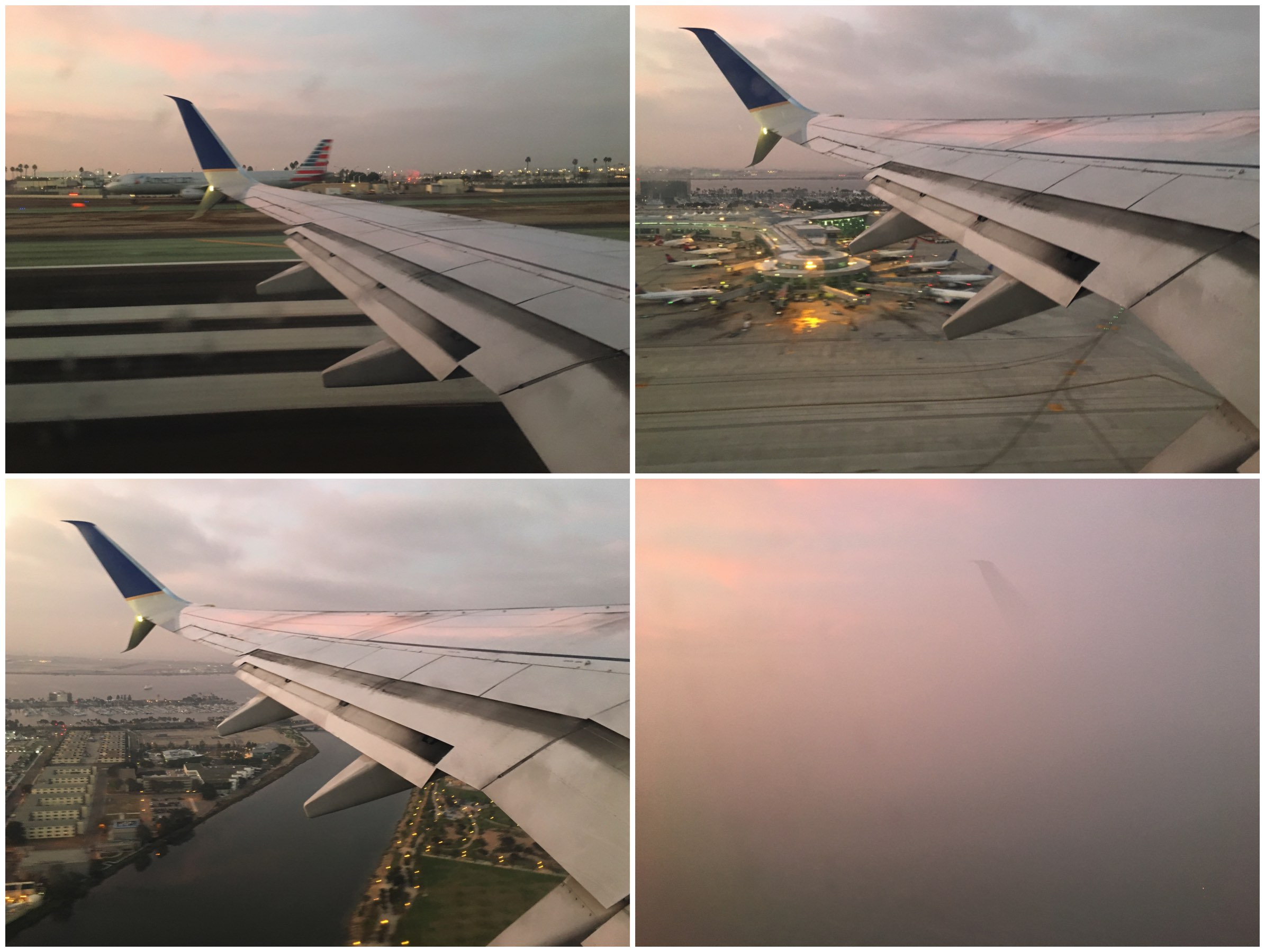 Taking off United Airlines 737–800 San Diego airport