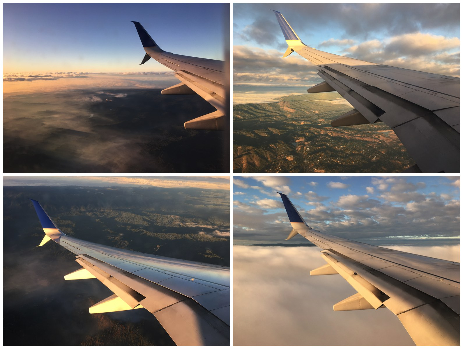 Descending into SFO United Airlines 737–800