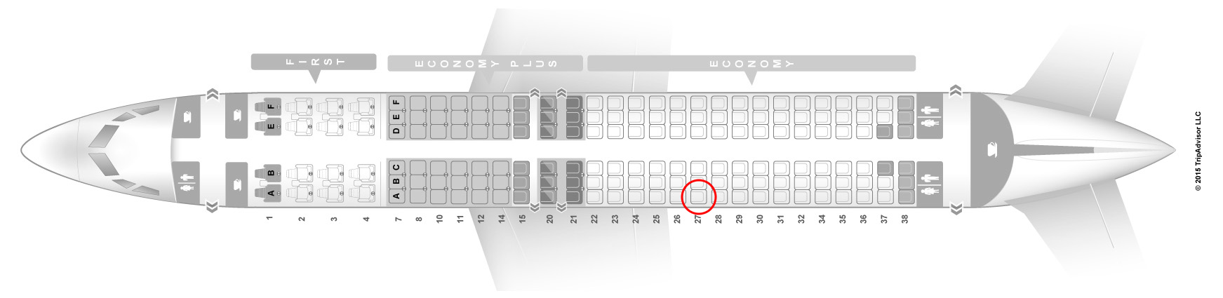 united 737-800 seat map