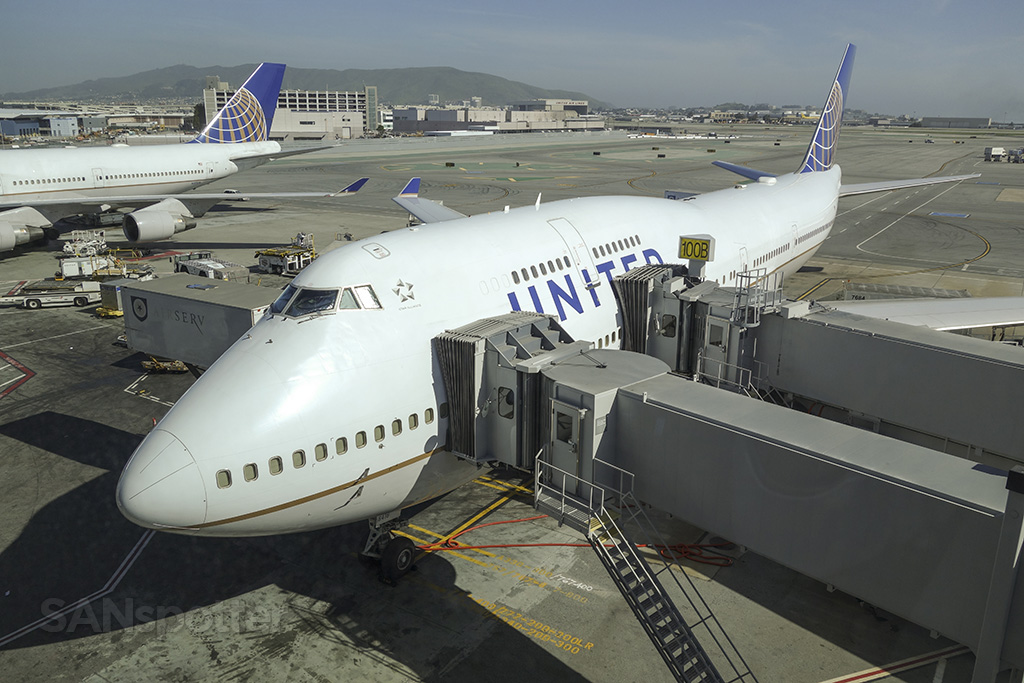 United airlines 747's at SFO