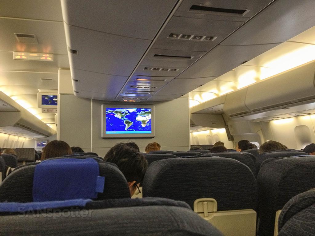 United airlines 747–400 interior