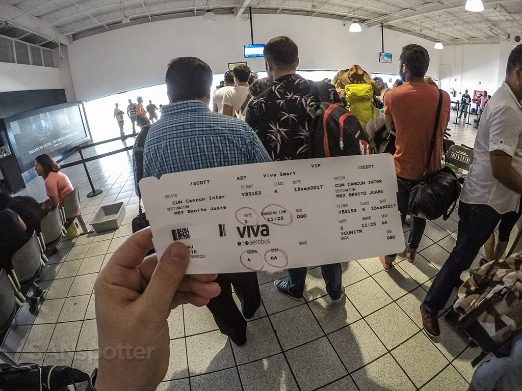 VivaAerobus boarding Cancun airport