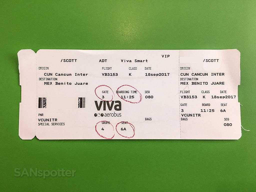 VivaAerobus Boarding pass