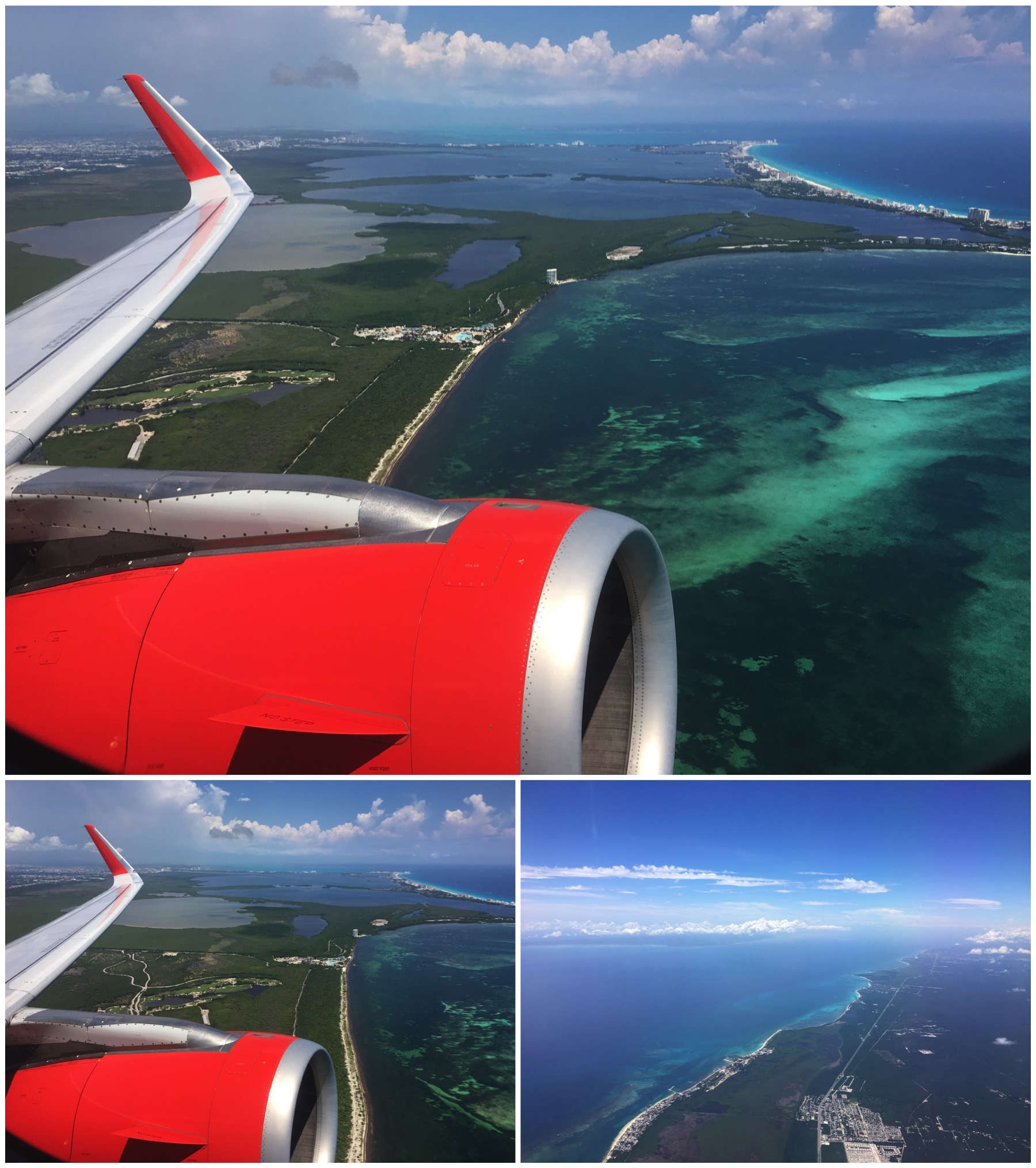 Cancun airport departure view