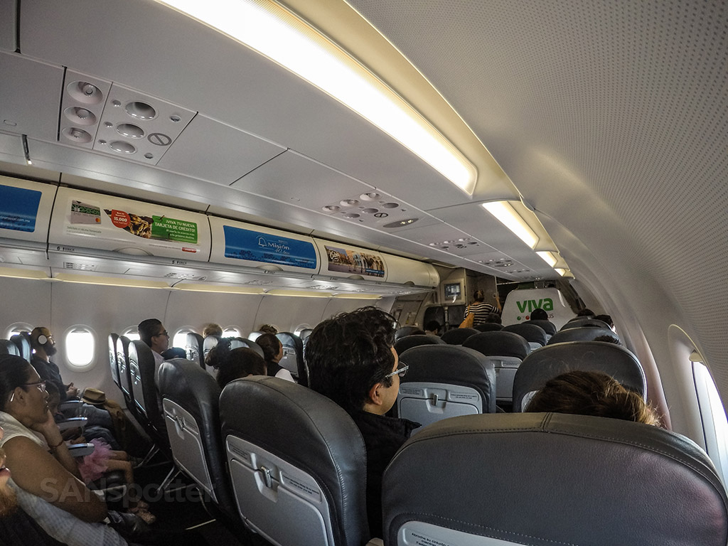 VivaAerobus a320 interior in flight
