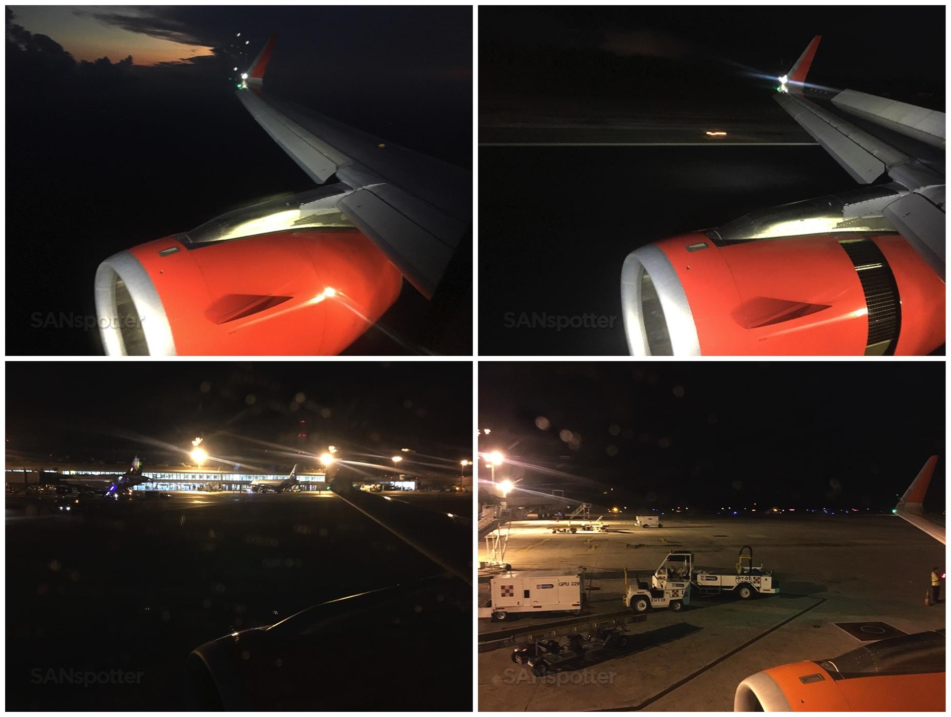 Landing Cancun airport