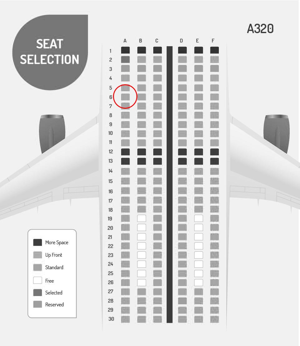 vivaaerobus seat map