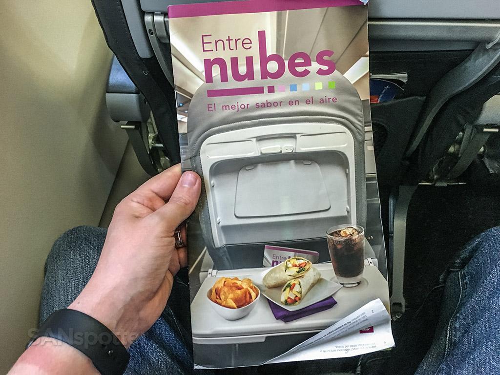 Volaris menu