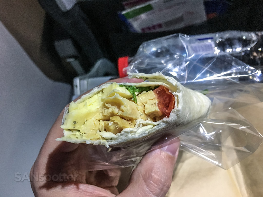 Volaris chicken wrap