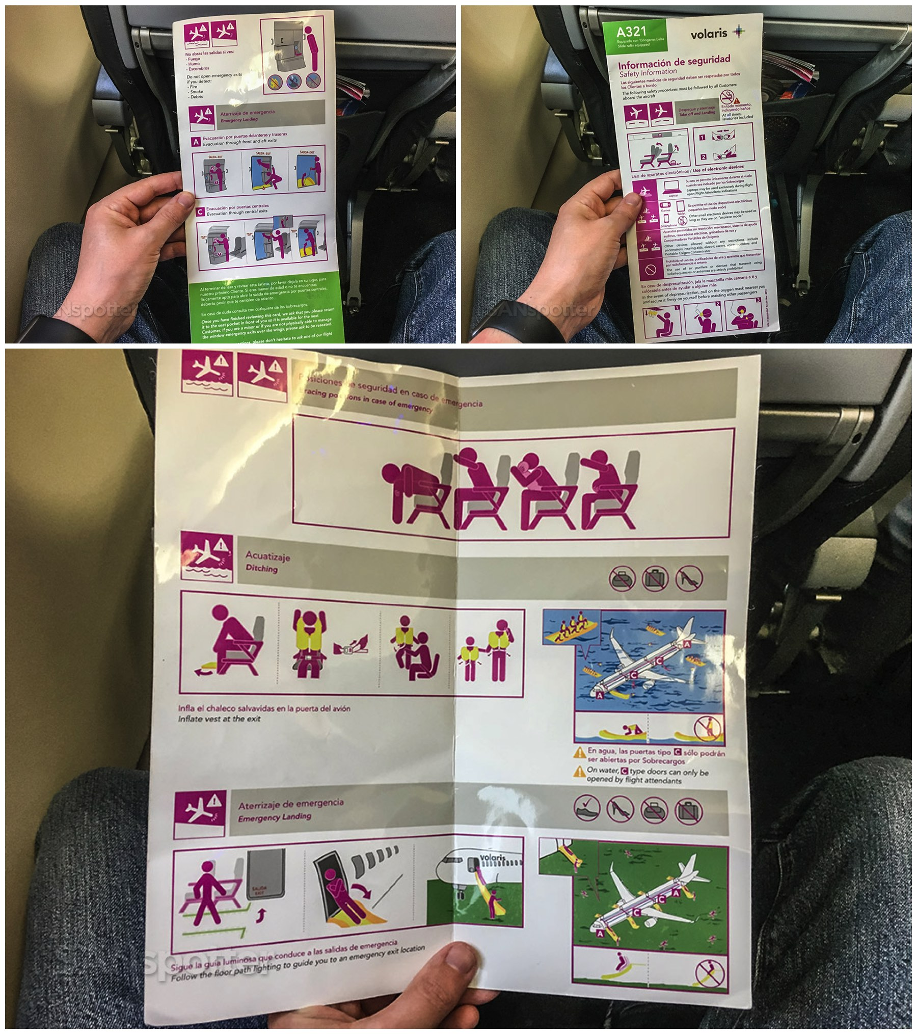 Volaris A321 safety card