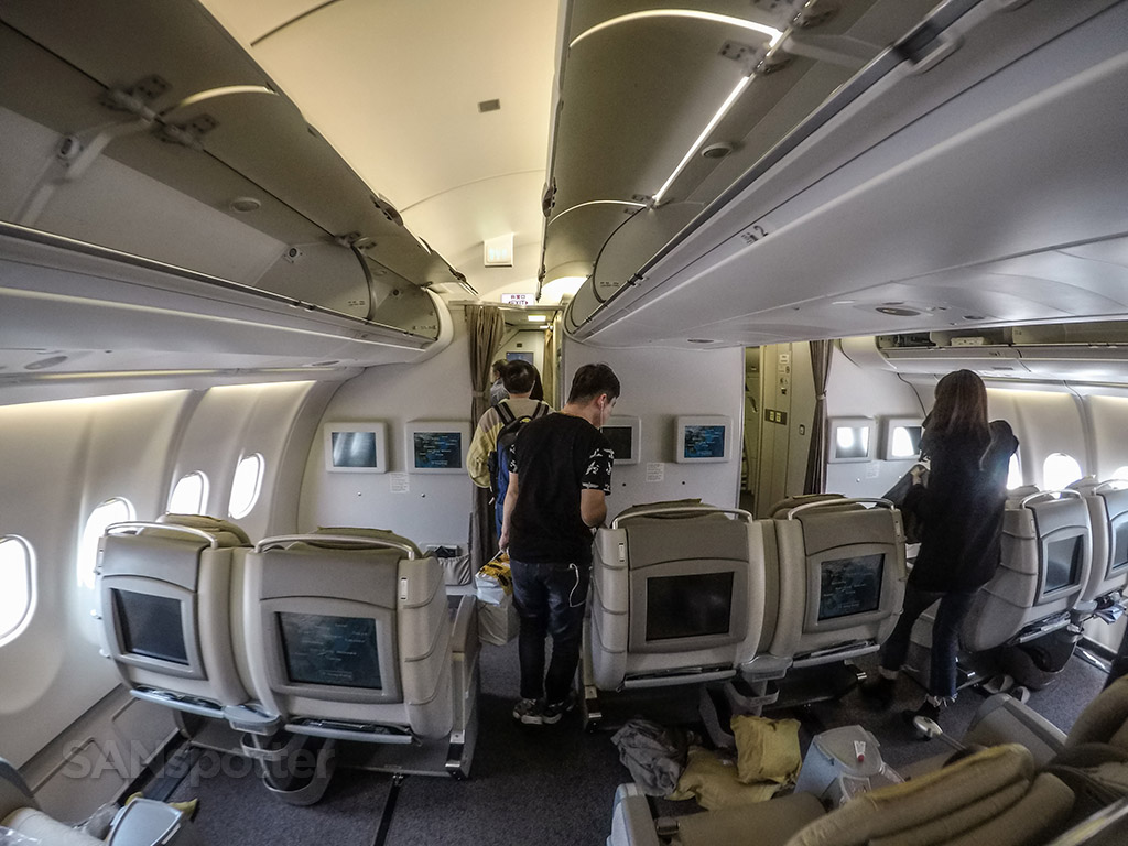 Asiana A330 business class bulkhead
