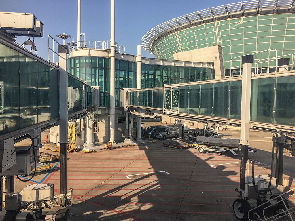 Incheon airport jet bridge