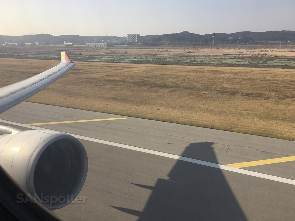 Departing ICN runway