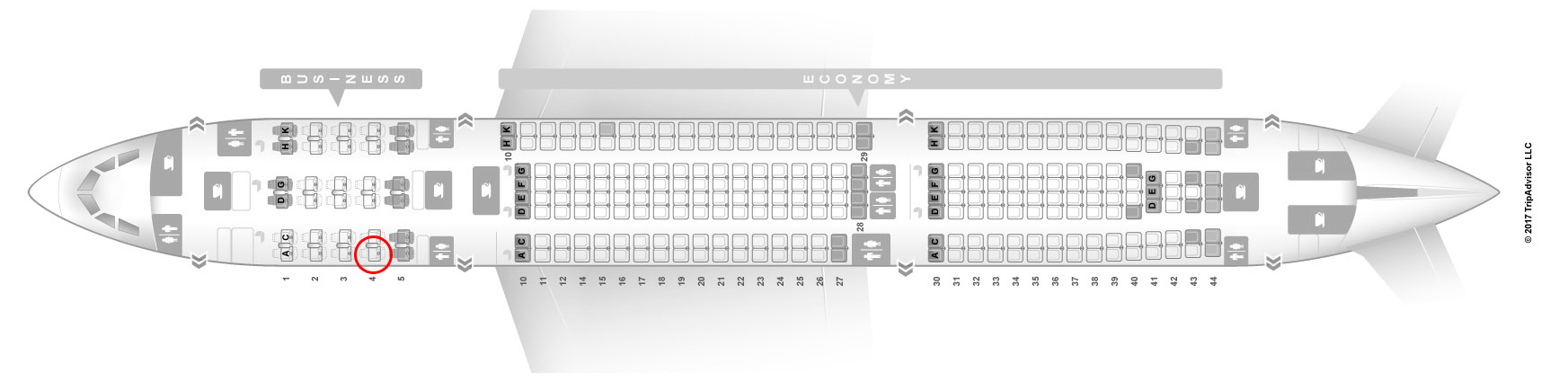 Seat map of this Asiana A330-300