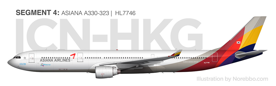 Asiana A330 side view