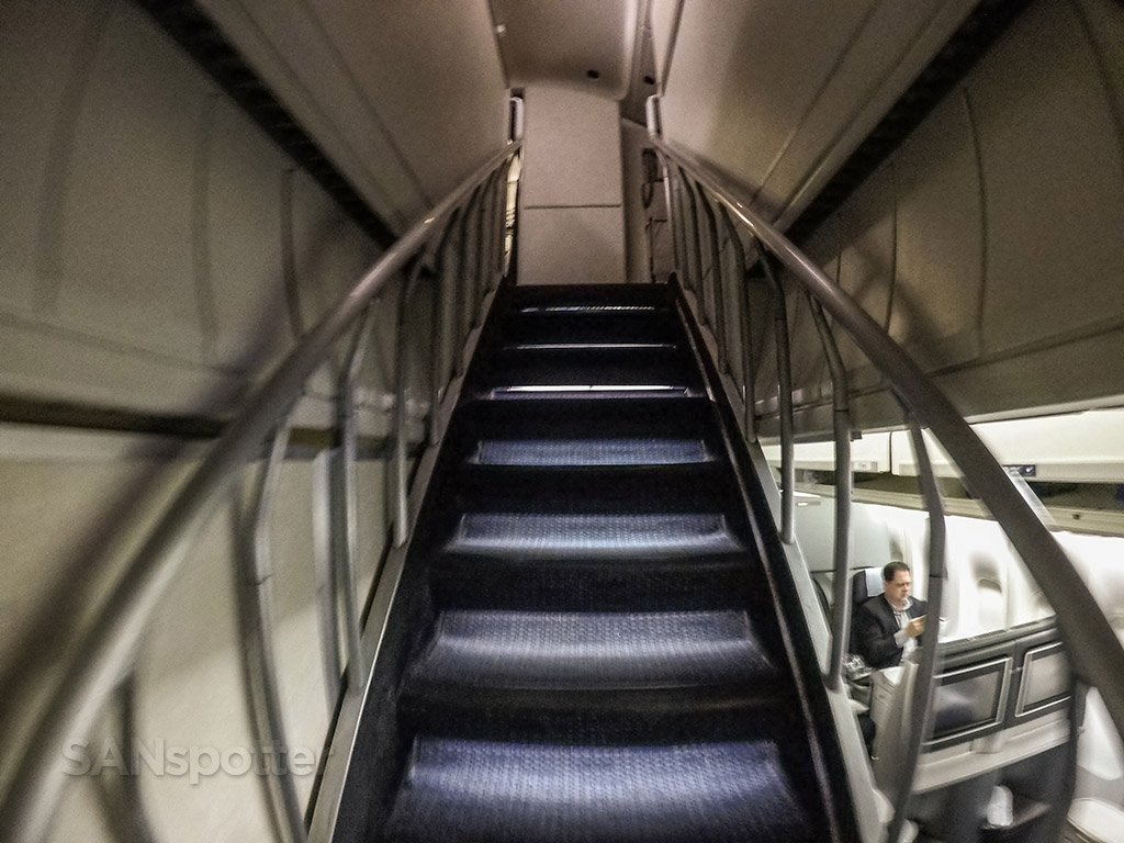 Climbing United airlines 747 stairs