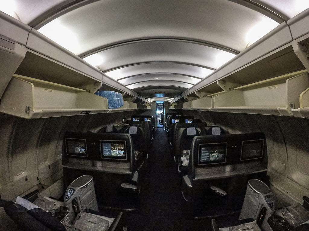 United Airlines 747–400 upper deck