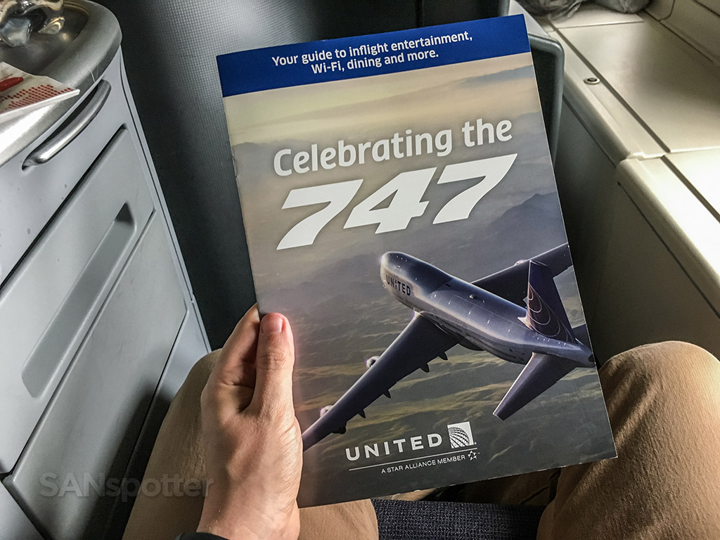 United 747 farewell entertainment guide