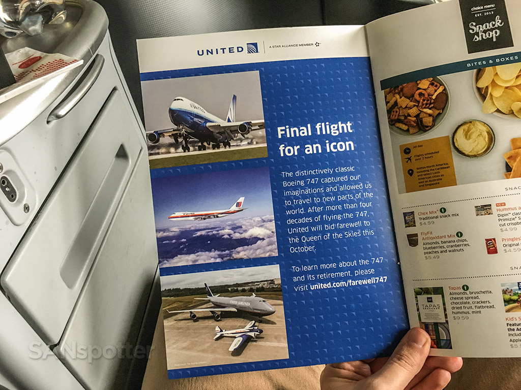 United 747 farewell entertainment booklet