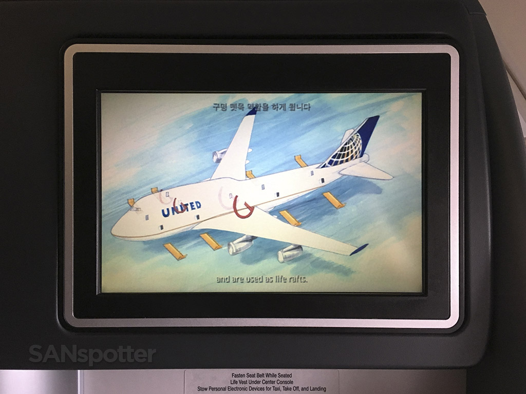United airlines 747-400 safety video