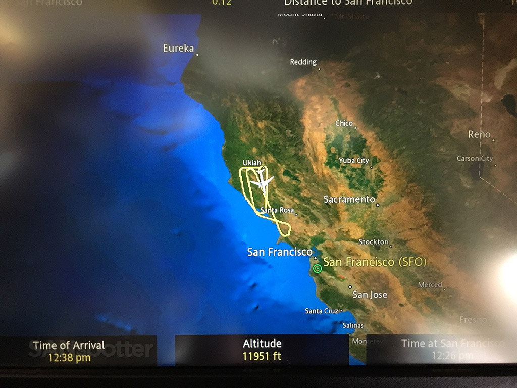 Dumping fuel over Northern California