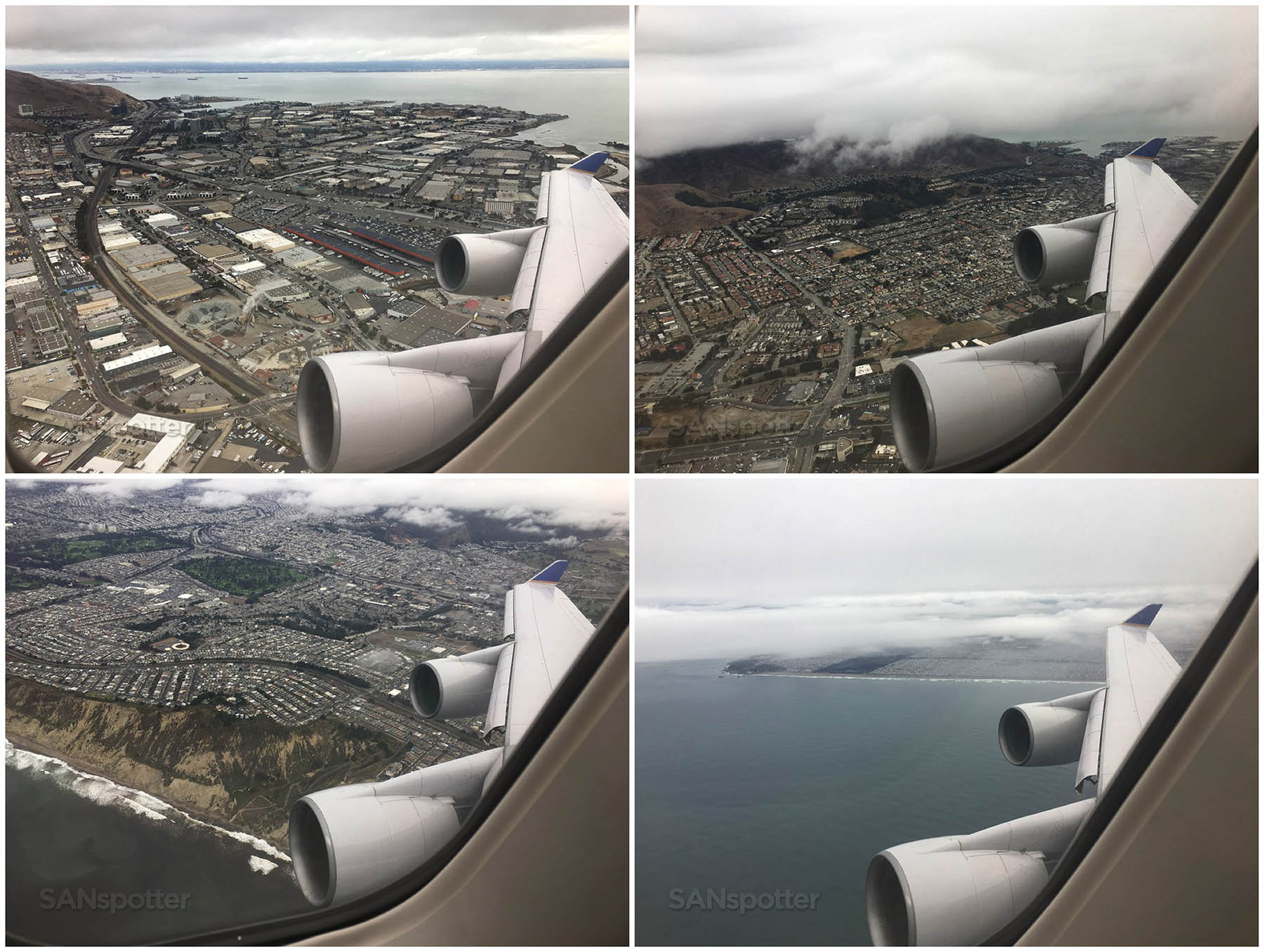 Taking off from San Francisco united 747