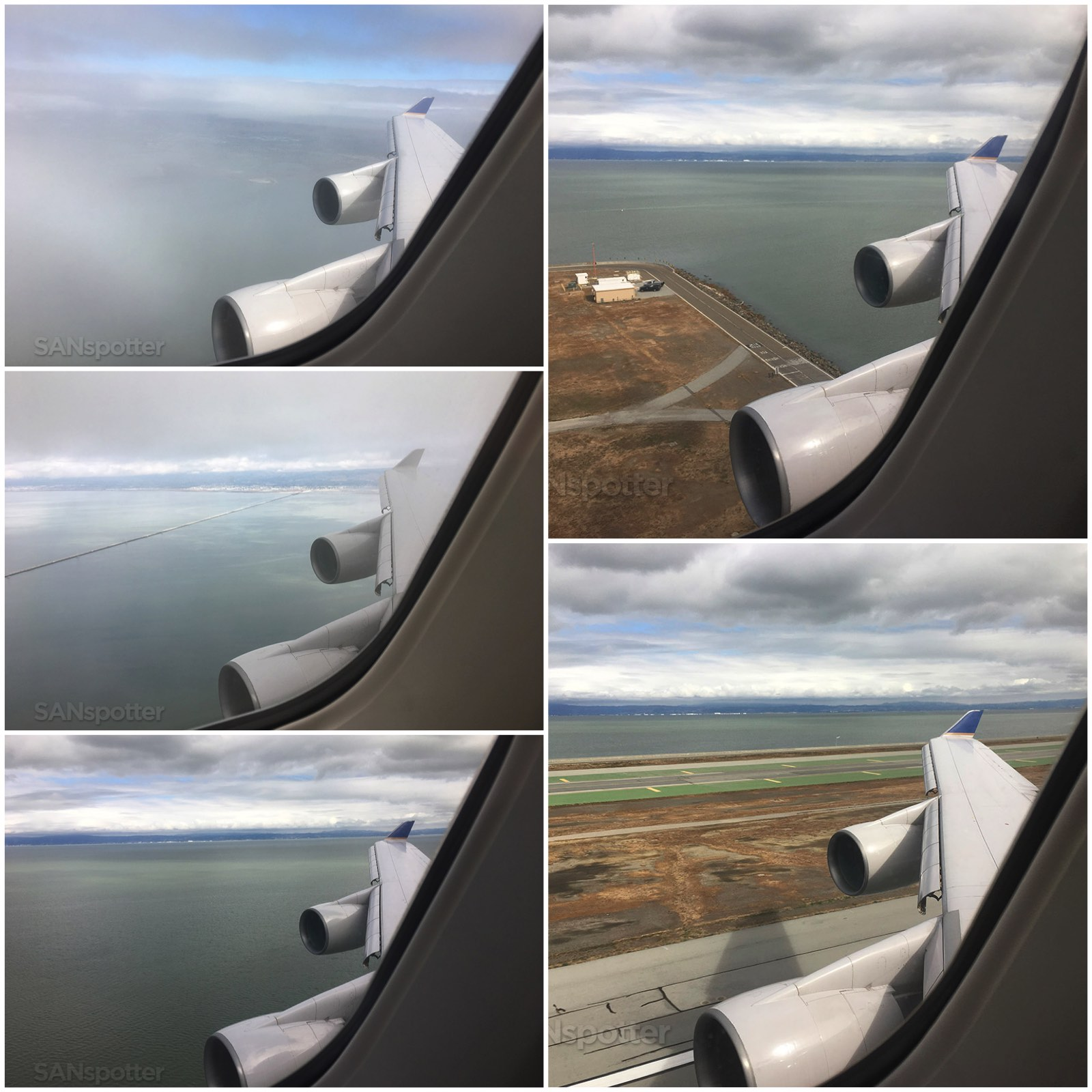 Landing at SFO in a United airlines 747