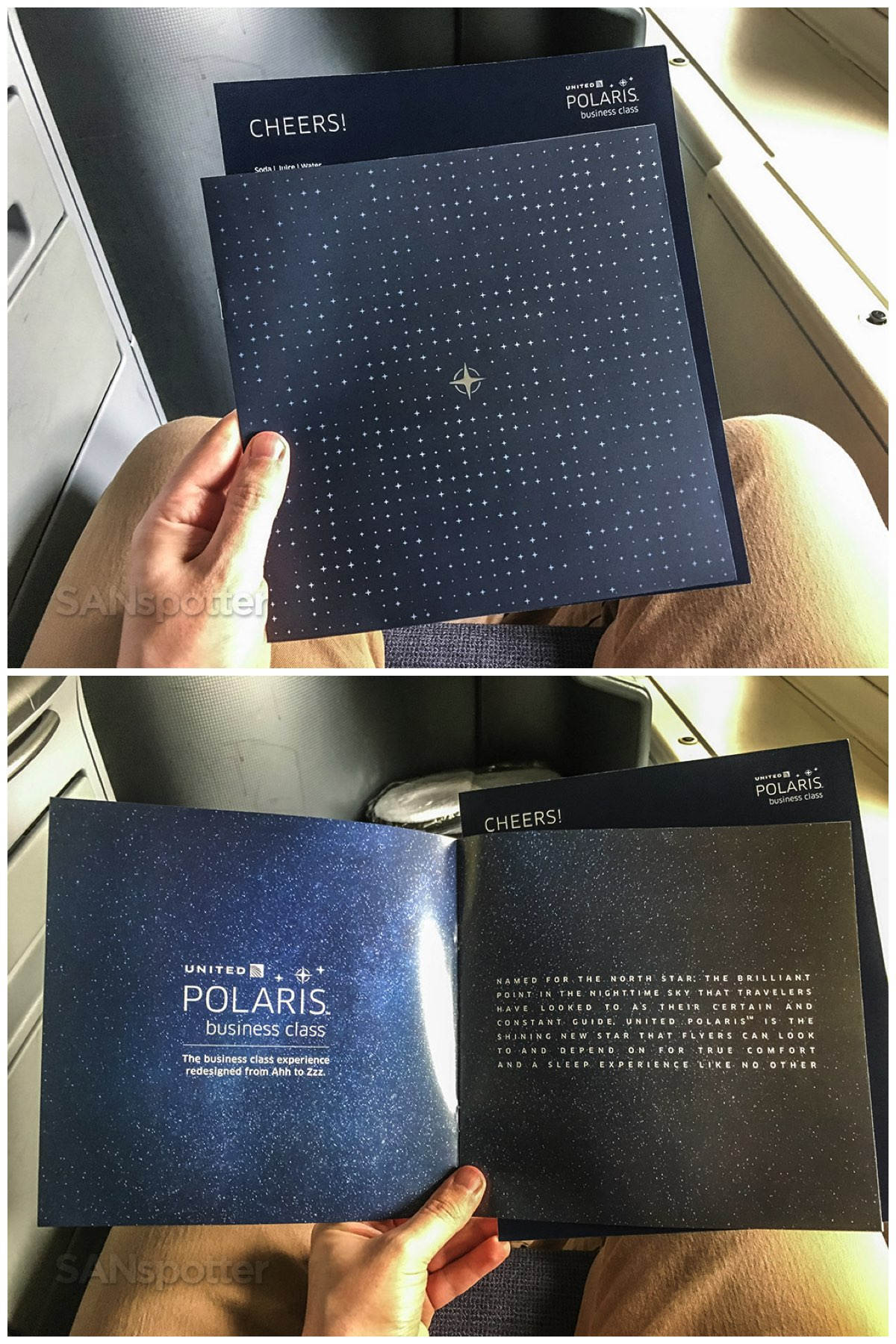 United Polaris business class menu