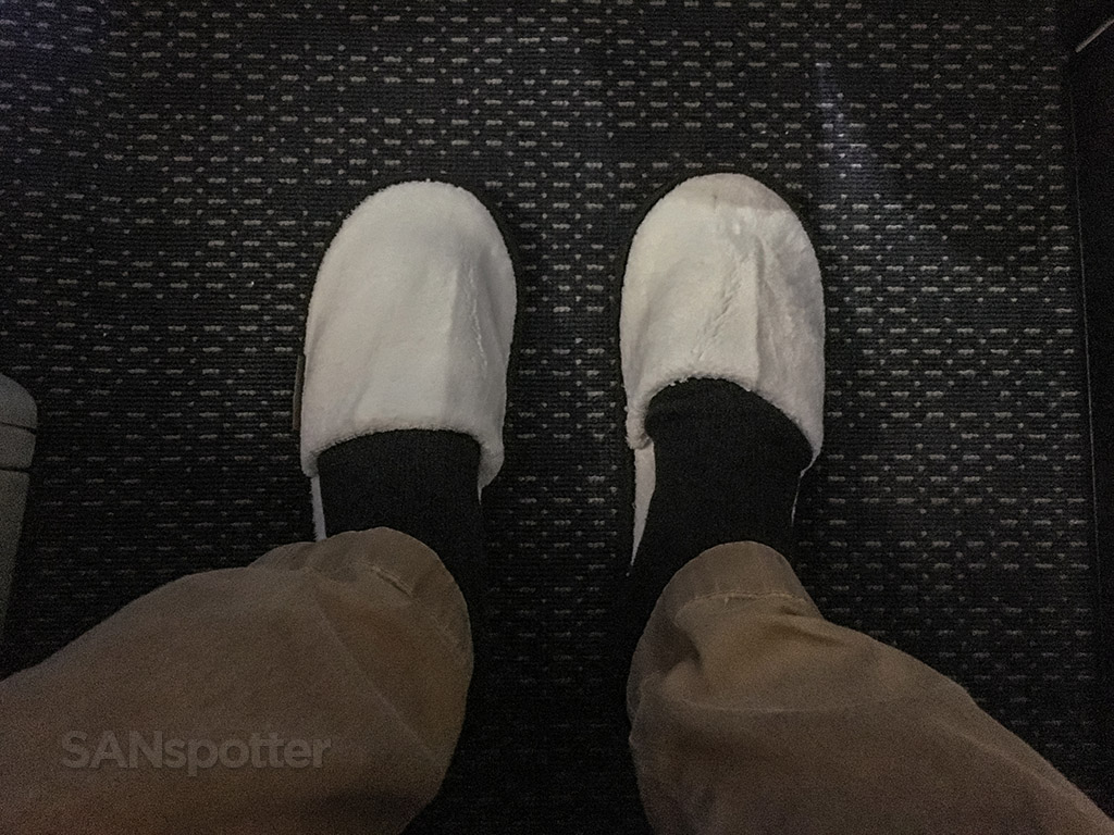 United airlines Polaris business class slippers