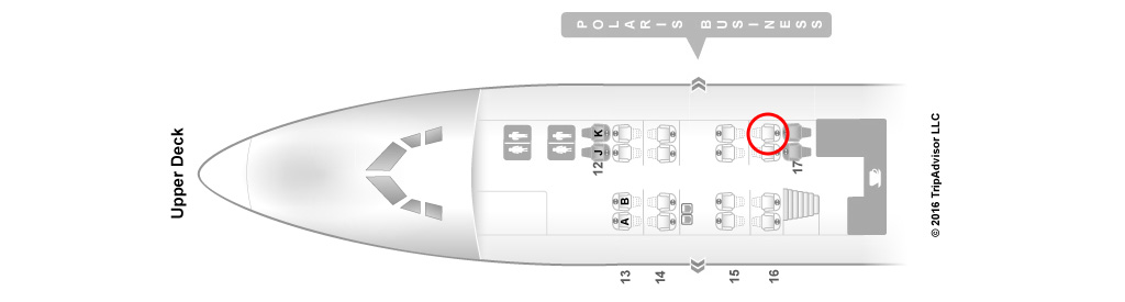 united airlines 747-400 upper deck seat map