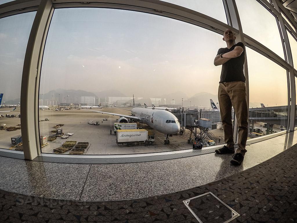 SANspotter selfie American Airlines777-300