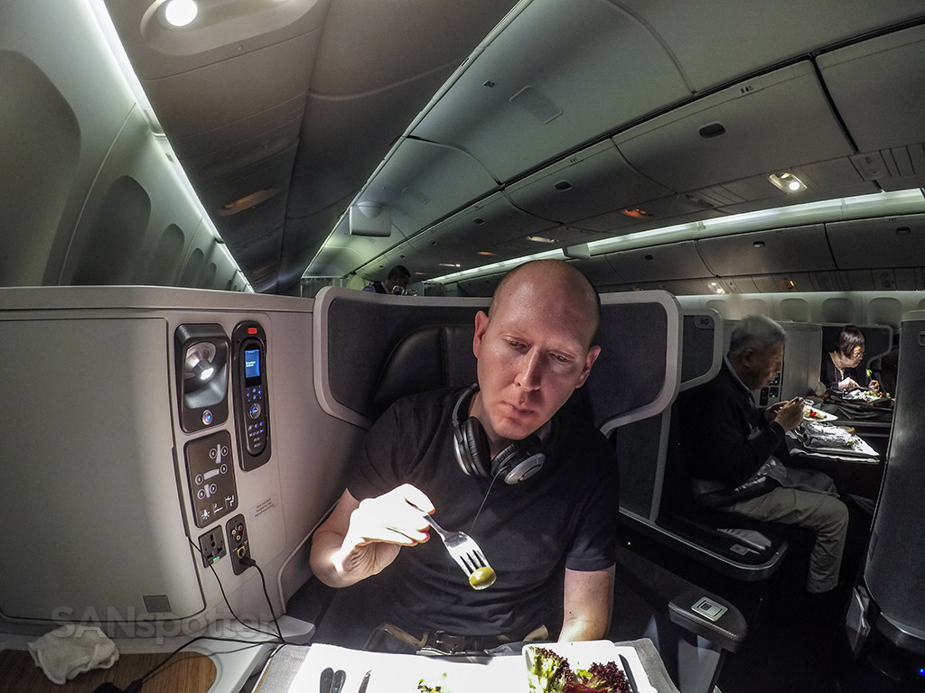 SANspotter selfie American Airlines business class