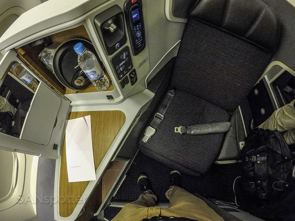 American Airlines 777–300 business class seat