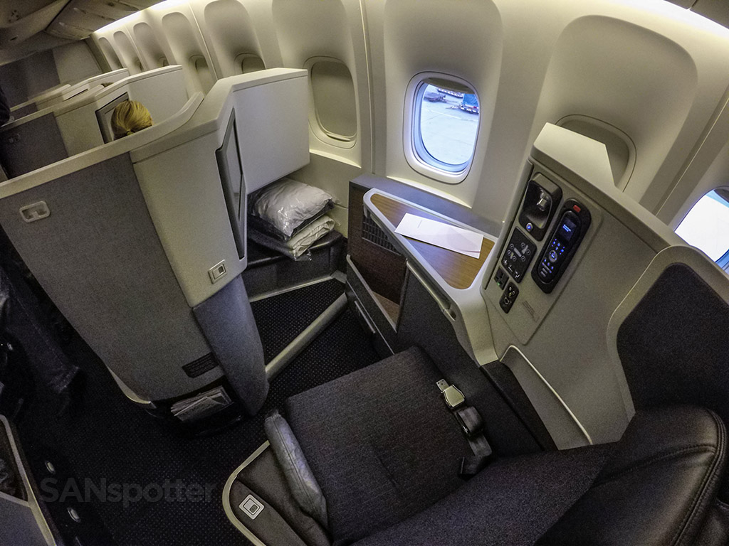 American Airlines 777–300/ER business class seat.