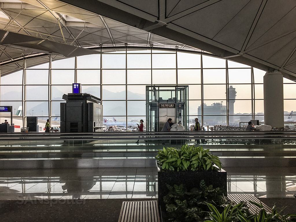 Hong Kong international airport interior