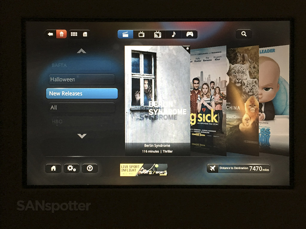 American Airlines 777–300 business class video entertainment