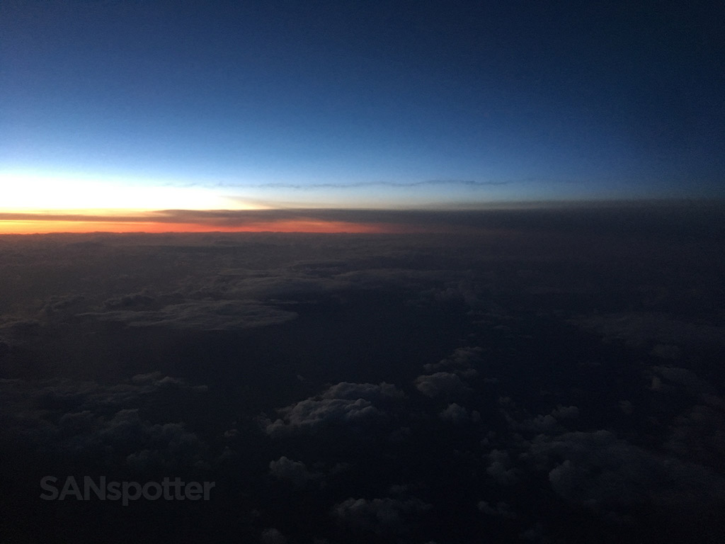 Sunrise over the north pacific