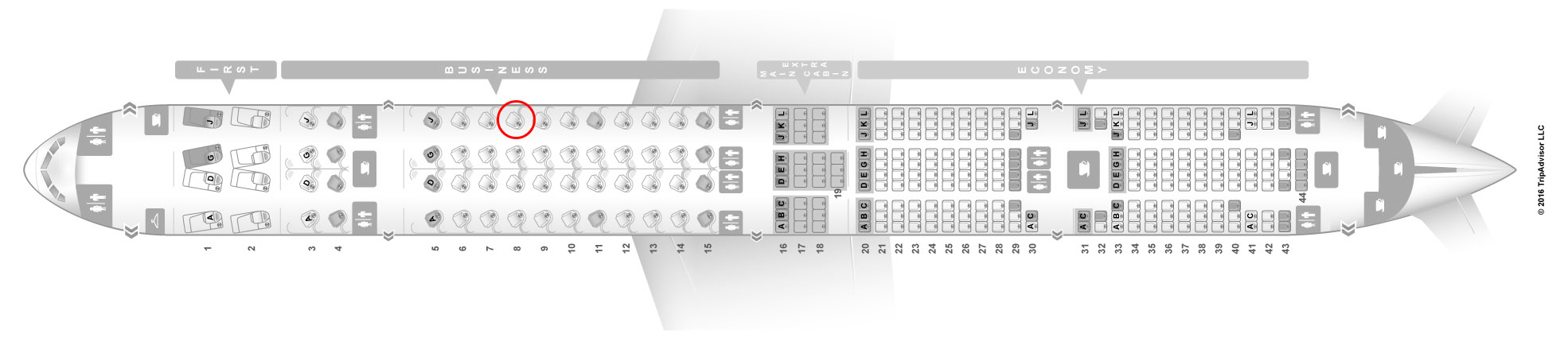 american airlines 77W seat map