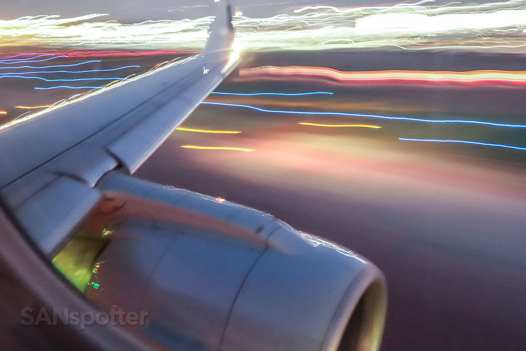 Slow shutter speed take off picture
