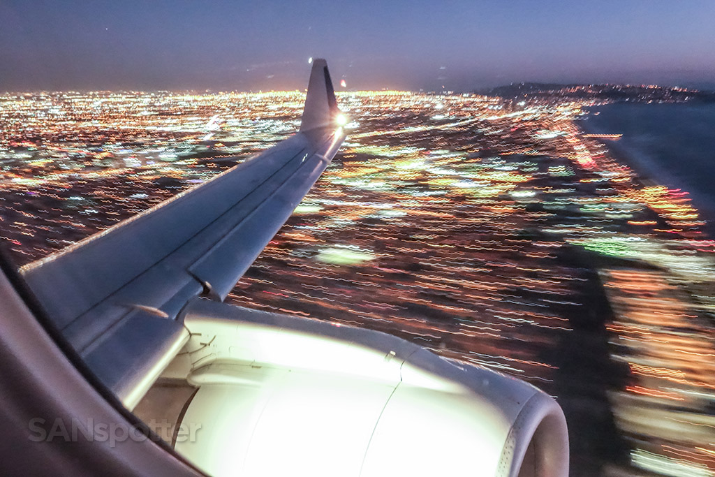 Taking off out of LAX at night
