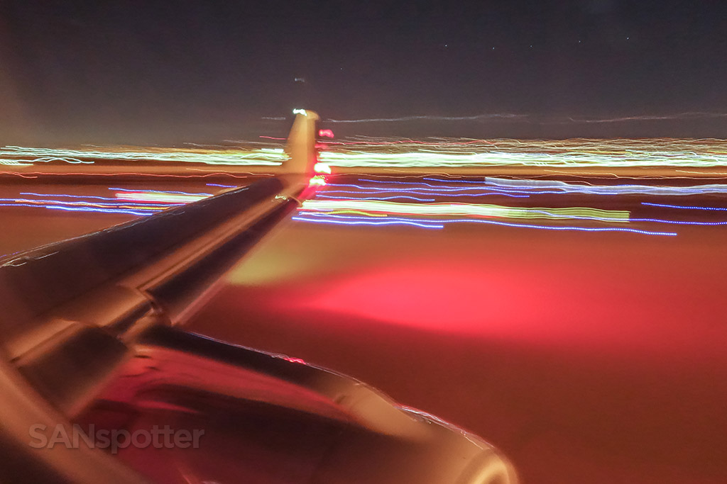 Landing at San Diego international Airport at night