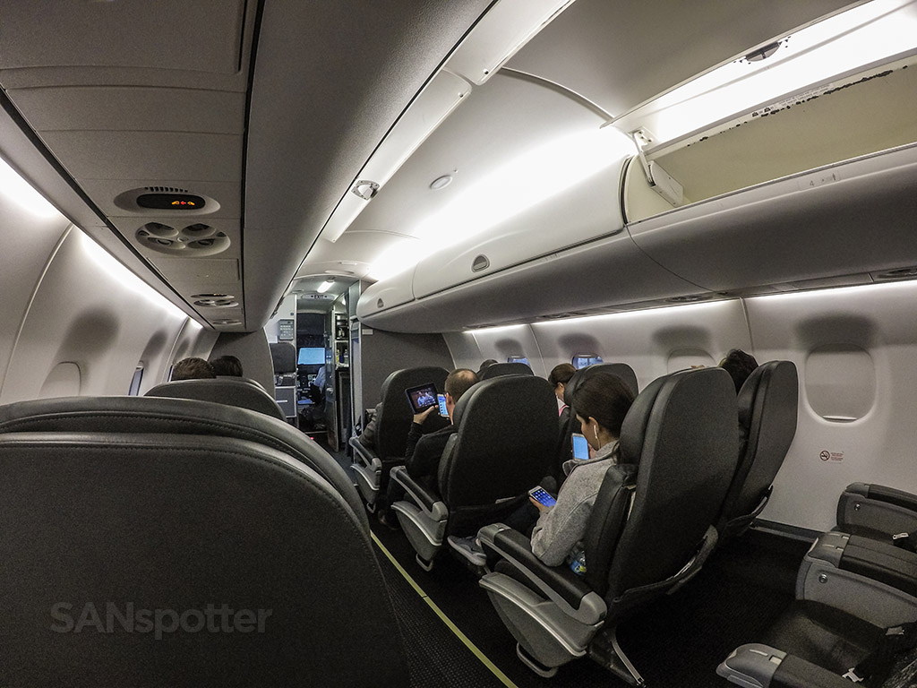 American eagle ERJ 175 first-class cabin wide angle