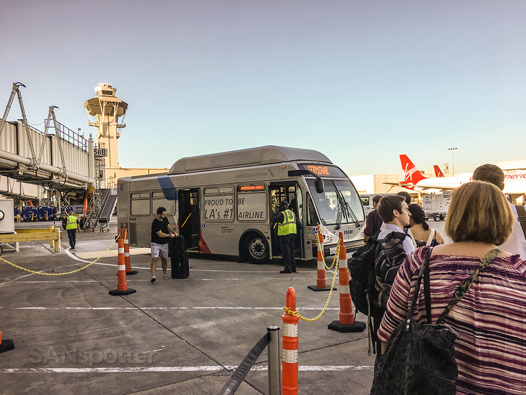 American Airlines interterminal bus LAX