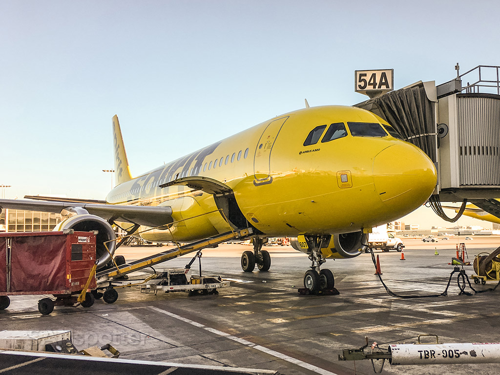 Spirit airlines a320 LAX