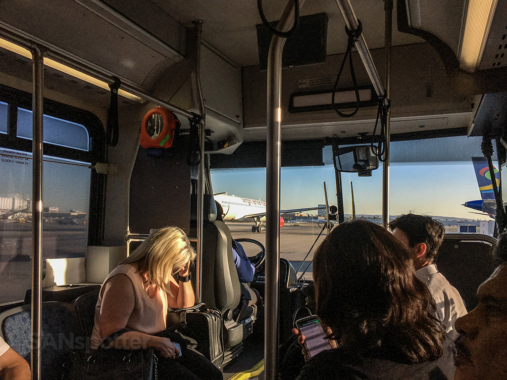 American Airlines bus to commuter terminal LAX