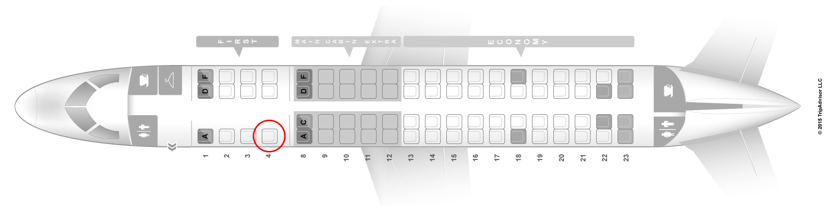 american eagle erj175 seat map
