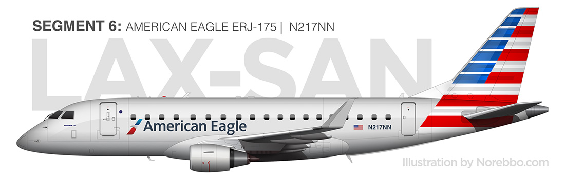 american eagle ERJ-175 side view