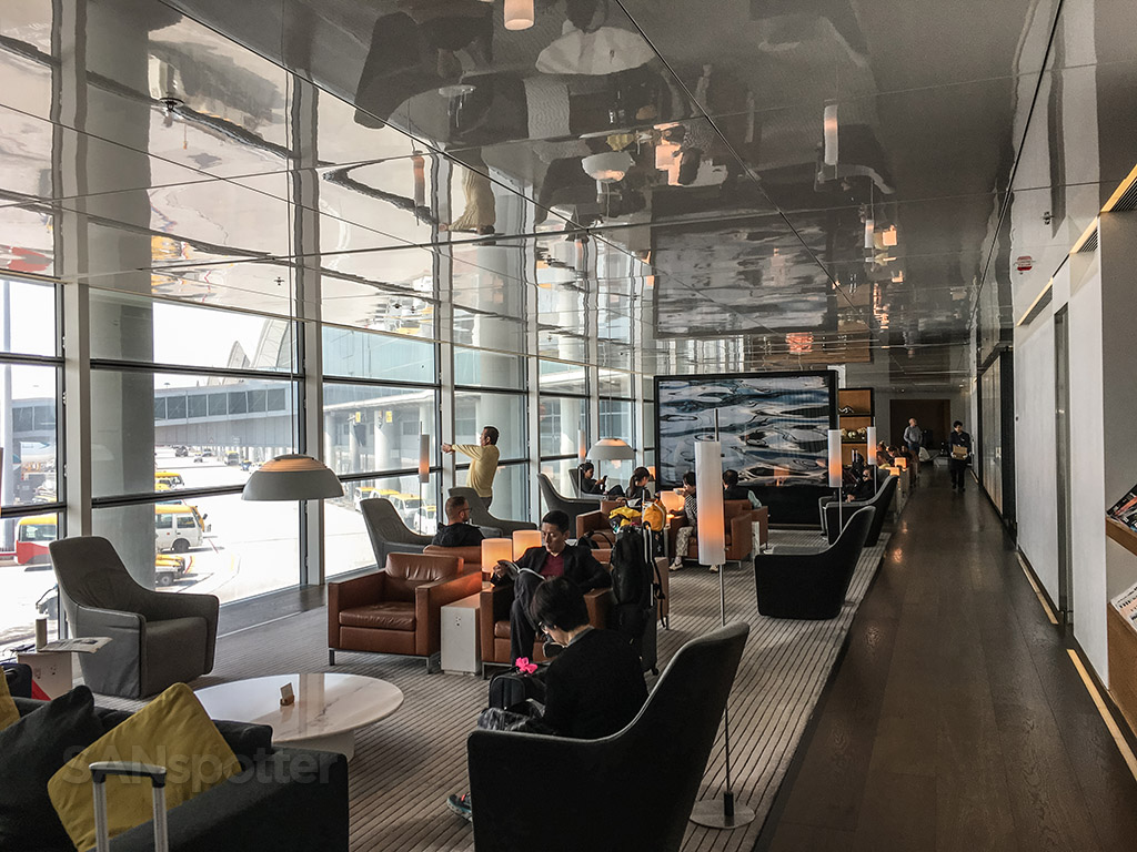 The bridge business class lounge large windows