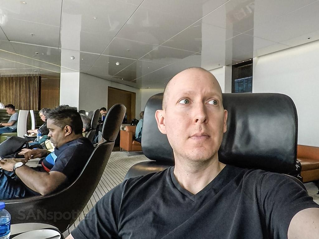 SANspotter selfie Hong Kong airport